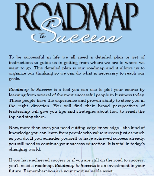 Roadmap to Success Back Cover